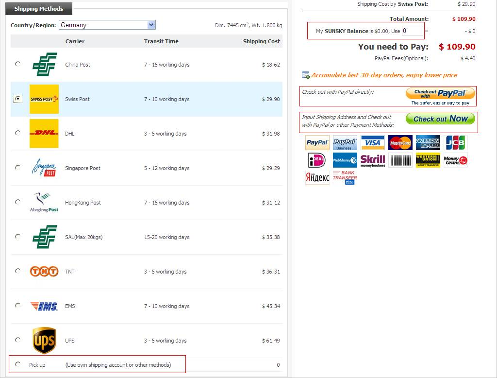 SUNSKY How To Make Order - What is paypal invoice buy online pickup in store same day