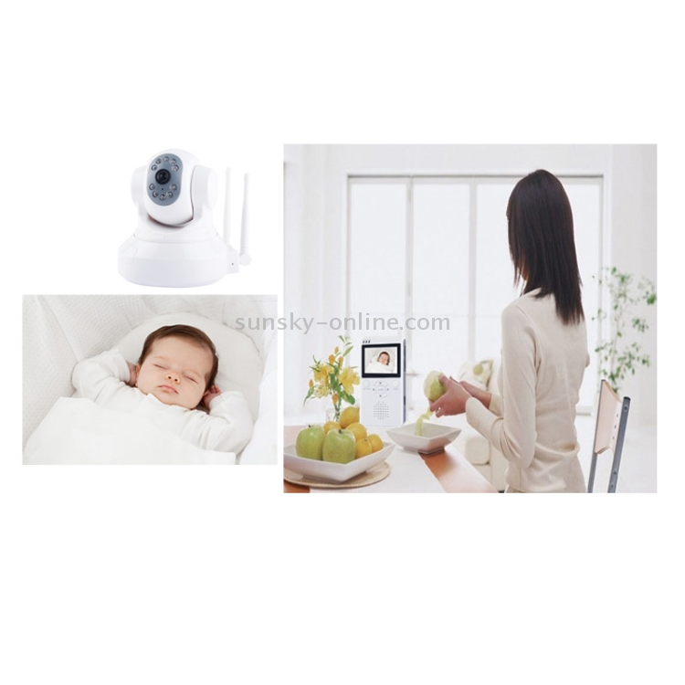 sunsky 2 4ghz 5v 1a 2 5 inch lcd screen wireless security kit baby camera baby monitor. Black Bedroom Furniture Sets. Home Design Ideas