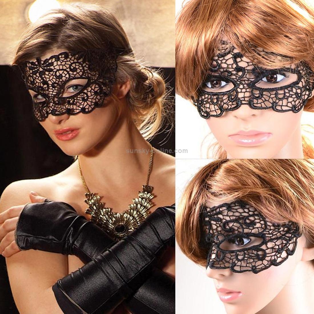 Ажурная маска для лица своими руками