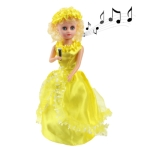 Electric little Girl with Sound, Size: 320 x 110 x 110mm (Yellow)