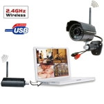 2.4GHz USB DVR Digital Wireless 4 x IR Camera Security System (W701DK1)