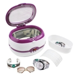 Stainless Steel Tank Digital Ultrasonic Cleaner with LCD Display for Jewelry / Watch / Denture (Magenta)