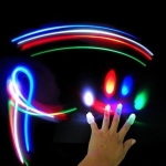 4 X LED Laser Finger light Party Time Beams Ring Torch