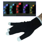 1 x 6-Mode Multi-Color LED Party Glove (Black)