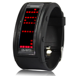 70 LED Light Display, Multi LED Watch (Black)