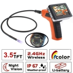 Wireless Borescope Inspection 4 LED Camera with 3.5 inch Color LCD Recordable Monitor, Lens Diameter: 9mm