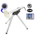 2.0 Mega Pixels 200X USB 2.0 Digital Microscope Borescope with 4 LED & Tripod (B005)
