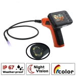 Wireless Borescope Inspection 4 LED Camera with 2.4 inch Color LCD Monitor, Lens Diameter: 9mm