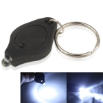 Mini Keychain LED Flashlight (Black)