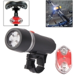 Enjoy-Your-Ride 5-LED Bike Head Flash Light & Bicycle Rear Tail Warning Lamp with Mount Bracket