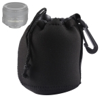 Neoprene SLR Camera Lens Carrying Bag Pouch Medium with Clip (8x10cm)