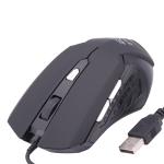 Проводная оптическая игровая мышь USB (Черная)
