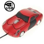 Оптическая мини - мышь USB (Красная)