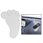 Feet Shaped Car Anti-Slip Mat Super Sticky Pad for Phone / GPS/ MP4/ MP3 (Transparent)