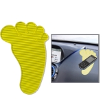 Feet Shaped Car Anti-Slip Mat Super Sticky Pad for Phone / GPS/ MP4/ MP3 (Yellow)
