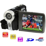 5.0 mega pixels portable digital video camera with 2.7 inch TFT LCD Screen
