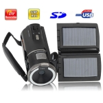 3.0 inch 5.0MP Solar Powered 8X Zoom DV Digital Video Camcorder, Max pixels: 12.0 Mega pixels (Interpolation)