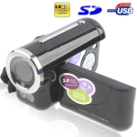 3.0 Mega Pixels Digital Camera & Video with 1.8 inch TFT LCD Screen, Support TV Out, Black (DV136)