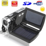 DV008+ ,2.8 inch 5.0 Mega pixels Solar Energy 8X Zoom DV Digital Video Camera, Max pixels: 12 Mega pixels (Interpolation)