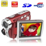 DV008,5.0 Mega Pixels Digital Video Camera with 2.8 inch TFT LCD Screen, 270 degree rotation, Support Super Night Shot / TV Out, Max pixels: 12 Mega pixels (Interpolation)