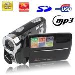 DV-K109, 12 Mega Pixels Digital Video Camera with 3.0 inch TFT LCD Screen, 270 degree rotation, Support Super Night Shot / MP3 / MP4 Player / TV Out