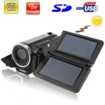 2.4 inch 5.0 Mega pixels Solar Powered 4X Zoom DV Digital Video Camera , Max pixels: 12.0 Mega pixels (Interpolation)