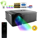 6 Lumens Mini USB Pocket Cinema Projector, Supports SD / MMC Card
