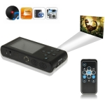 HD320X240 Super DLP Pico Pocket Projector up to 80 inch, Built-in MP4 Player with Remote Control, Support Mini SD Card