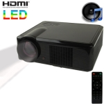 Multimedia LED Projector with Remote Control, Built in Speaker, Support Dual HDMI / VGA / S-Video Input