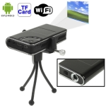 Smart Mini Projector with Android OS & WIFI, Project Distance: 17.8-200cm, work for Laptop, Desktop computer,Mobile Phone, iPhone,iPad, PSP , PDA, VCD, DVD