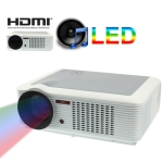 Multimedia LED Projector with Remote Control, Built in Speaker, Support HDMI / VGA / Ypbpr / S-Video Input