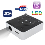 D06, Music Mini Projector with TF Card Slot (Black)