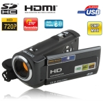 HD-66T, 720P HD  5.1 Mega Pixels 16X Zoom Anti Shake Digital Video Camera with 3.0 inch TFT LCD Screen , HDMI / USB / SD Interface and LED Fuction, 270 degree rotation, Max pixels: 12 Mega pixels (Interpolation)