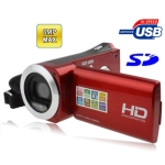 DV-328 Red, 3.0 Mega Pixels Digital Camera with 2.7 inch TFT LCD Screen, Max pixels: 8 Mega pixels (Interpolation)