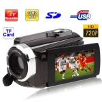 HD-SC600 Brown, 5.0 Mega Pixels Digital Camera with 3.0 inch TFT LCD Screen, 270 degree rotation, Max pixels: 16 Mega pixels (Interpolation), Support SD/TF Card