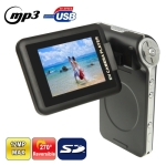 DV002, 3.0 Mega pixels 4X Zoom Portable Digital Video Camera with 2.4 inch TFT LCD Screen, 270 degree Rotation, Support MP3 / MP4 Player / TV Out , Max pixels: 5.0 Mega pixels (Interpolation)