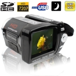 DV-558, 5.1 Mega pixels 8X Zoom Portable Digital Camcorder / Video Camera with 2.4 inch TFT LCD Screen, Support SD/SDHC Card , TV out format: NTSC/PAL , Max pixels: 12 Mega pixels (Interpolation)