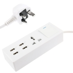 4 Way US Power Extension Socket, 2 x USB Ports &amp; RJ11 Interface, Cable Length: 2m