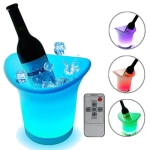 7 LED Light Colors Changing Ice Bucket with Remote Control