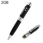 3 в 1 Лазерная ручка + USB флеш-накопитель, 2Гб (Черный)