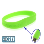 USB флеш-накопитель с интерфейсом USB 2.0 в виде силиконового браслета, 4Гб (Зеленый)