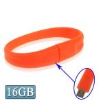 USB флеш-накопитель с интерфейсом USB 2.0 в виде силиконового браслета, 16Гб (Красный)