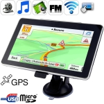 7 Inch TFT Touch Screen GPS Navigation with 2GB TF card and Map, Support Bluetooth function
