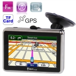 CH2080 4.3 inch 480 x 272 Pixels TFT Touch Screen Car GPS Navigator,Built 4GB Memory and Map, Support Voice Broadcast, FM Transmitter Function and TF Card