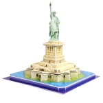 3D Puzzle Statue Of Liberty Model Card Kit (39pcs)