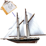 3D Puzzle  Sailing Model Card Kit (80pcs)