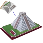 3D Puzzle Pyramid of Kukulcan Model Card Kit (50pcs)