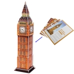 3D Puzzle Big Ben Model Card Kit (30pcs)
