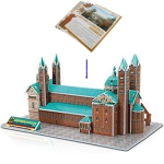 3D Puzzle Speyer Cathedral Model Card Kit (41pcs)