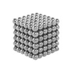 Magic Puzzle Magnet Balls (216 pcs Magnet Balls Included), Silver